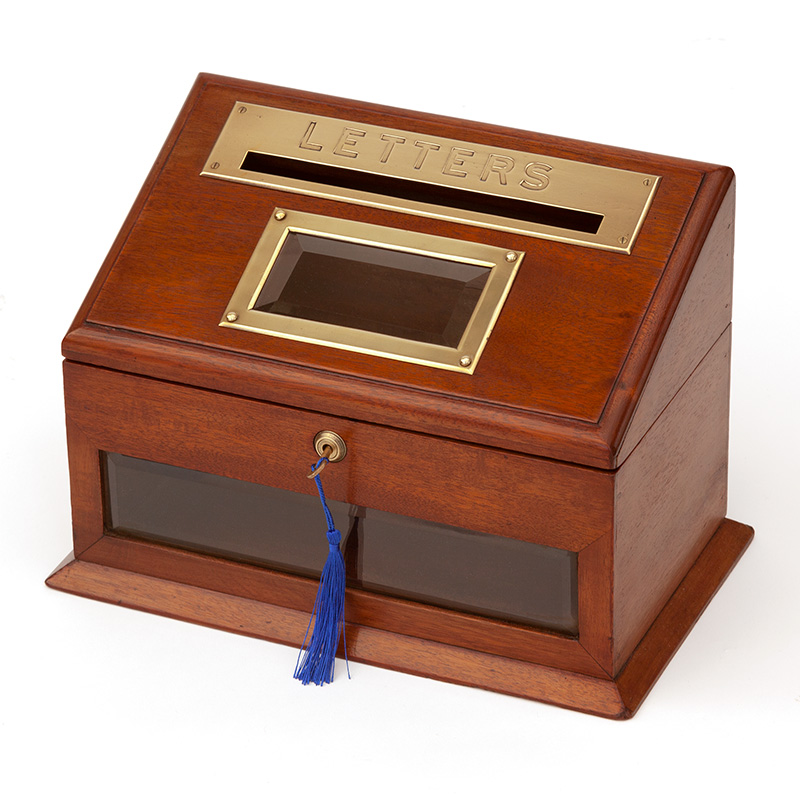 Brass Mounted Mahogany Letterbox by J. C. Vickery