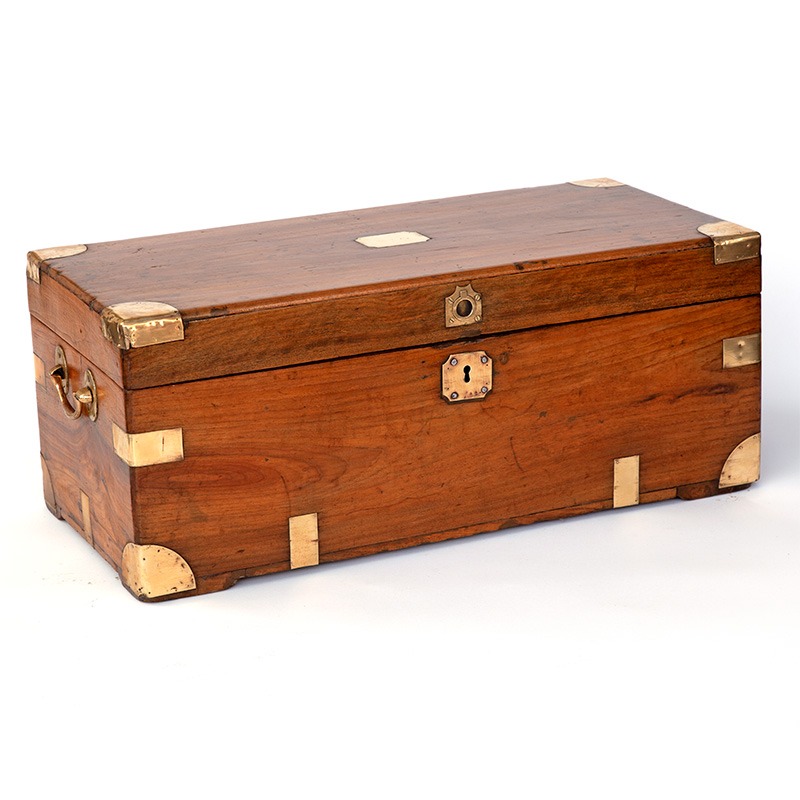 Brass Mounted Camphorwood Chest. (c.1880).