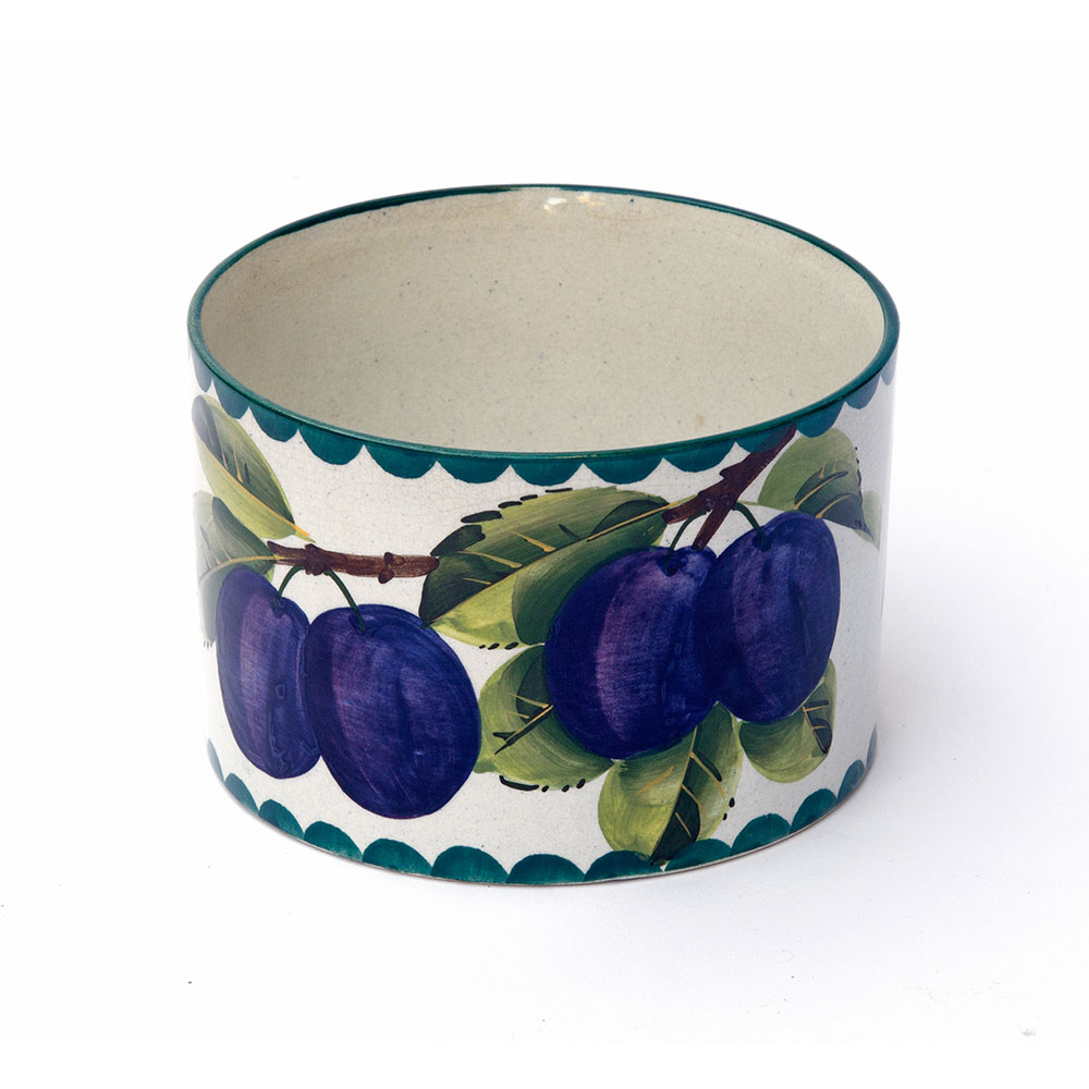 Antique Wemyss Pottery Bowl with Plum Design