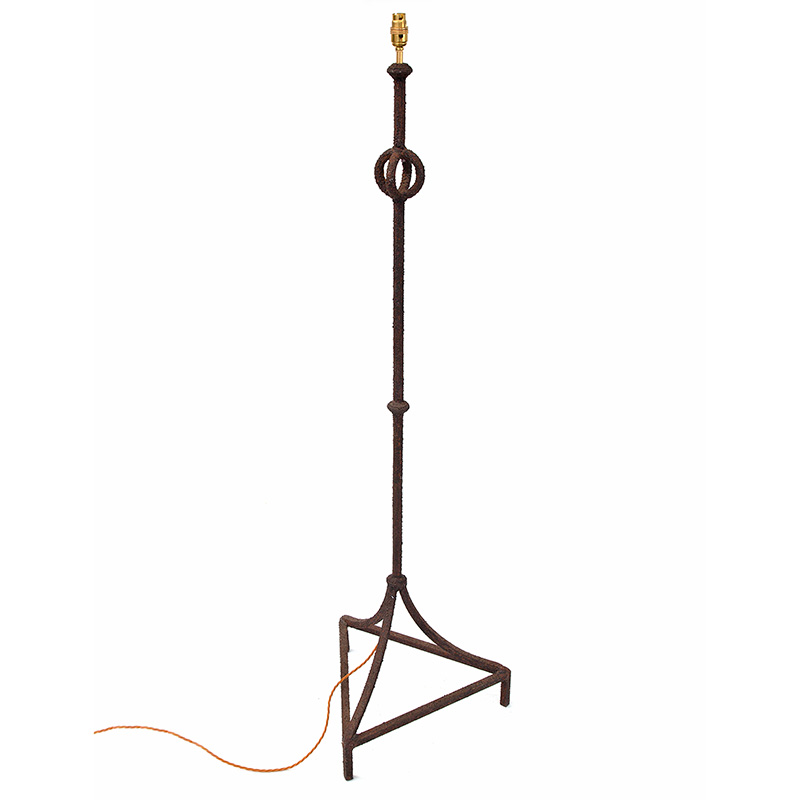French Cast Iron Brutalist Standard Lamp (c.1950)