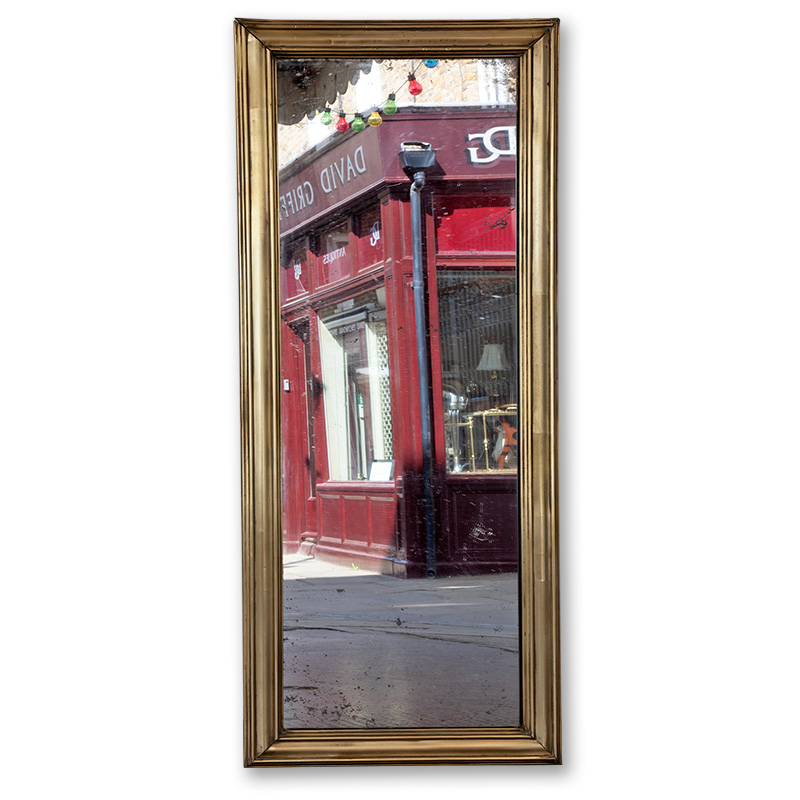 Brass Framed French Bistro Pier Mirror