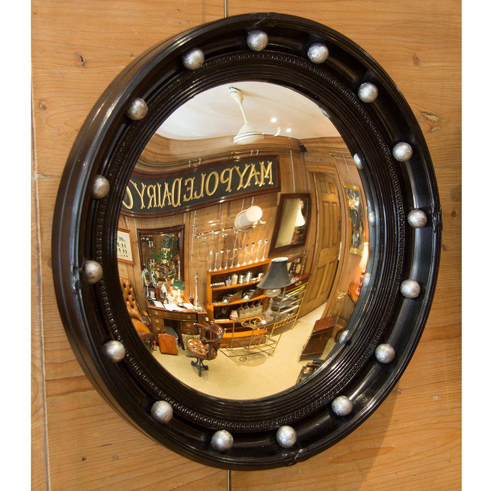 Black border convex mirror 18.5