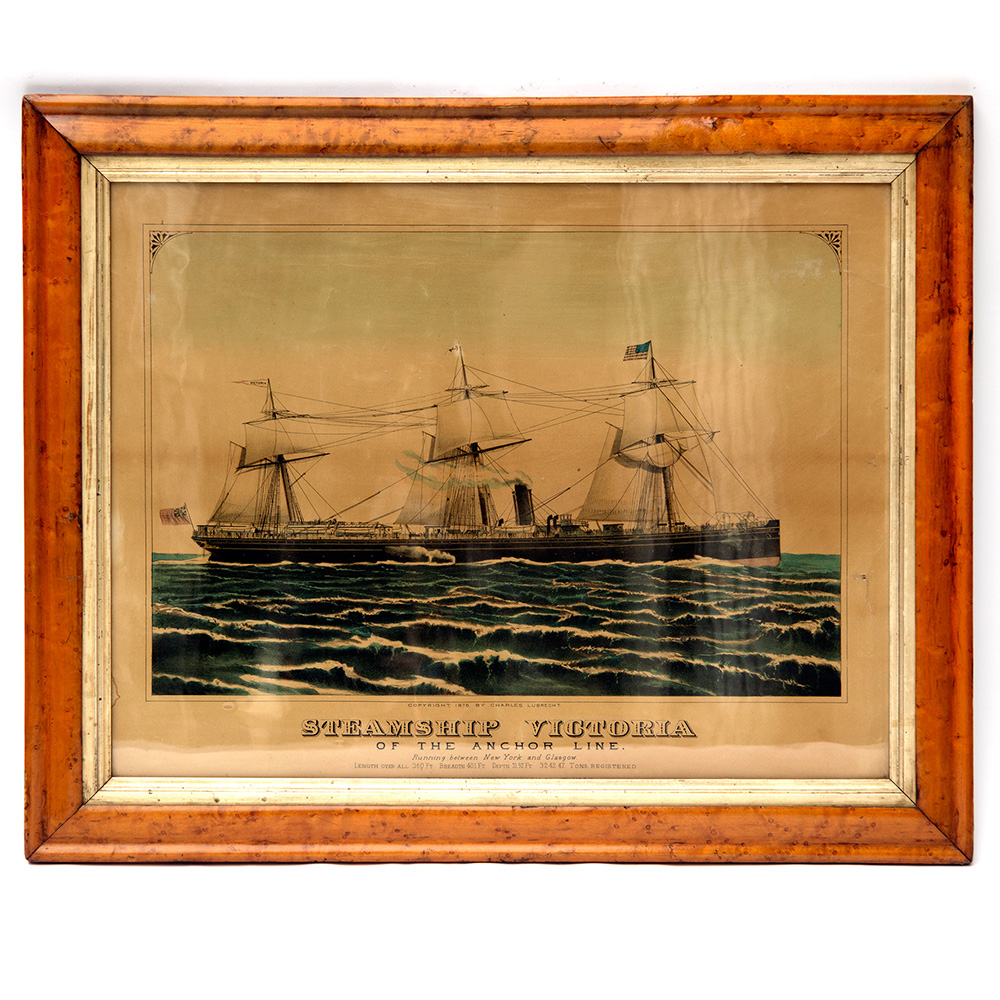 Steamship Victoria of the Anchor Line Print