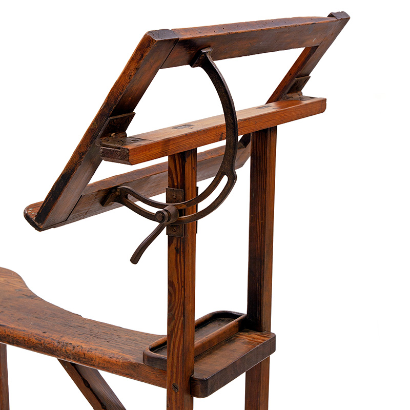 Rare Late Nineteenth Century Oak Side Saddle Adjustable Easel