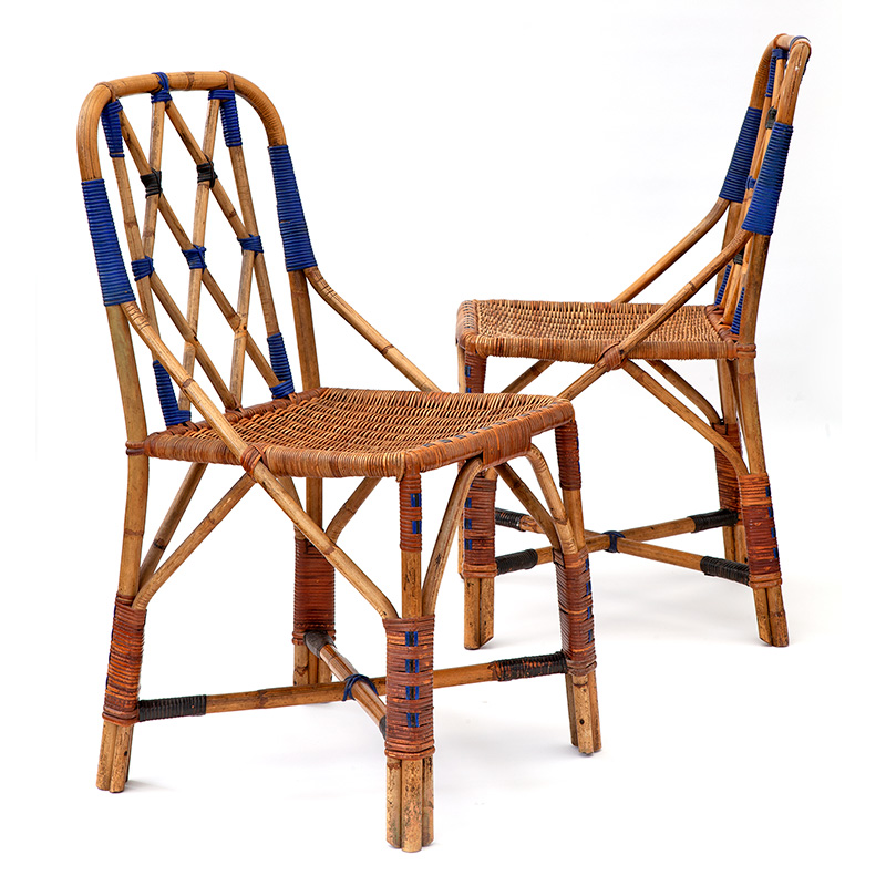 Pair of Dryad Cane Side Chairs