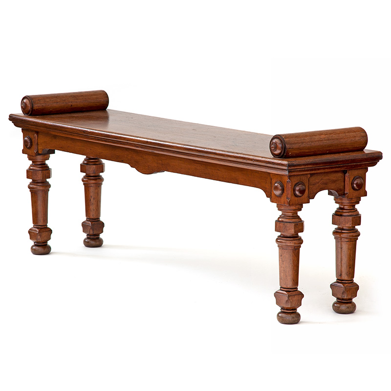 Super chunky extra large antique oak hall bench in original country house condition c.1840.
