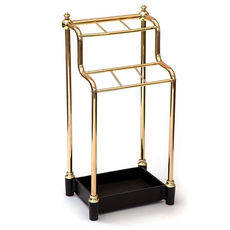 Antique Brass and Cast Iron Waterfall Stick Stand