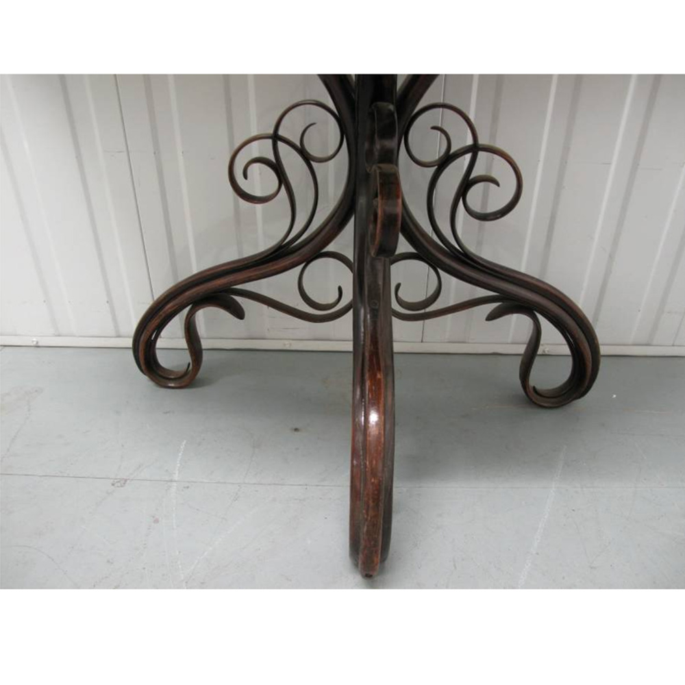 Antique Rosewood Topped Bentwood Console Table by Thonet
