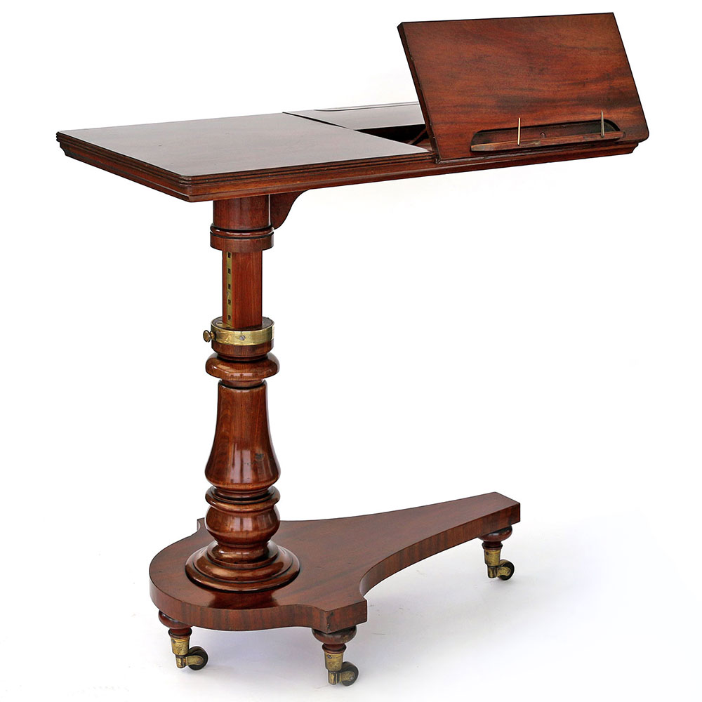 Flame Mahogany Adjustable Reading Table or Music Stand