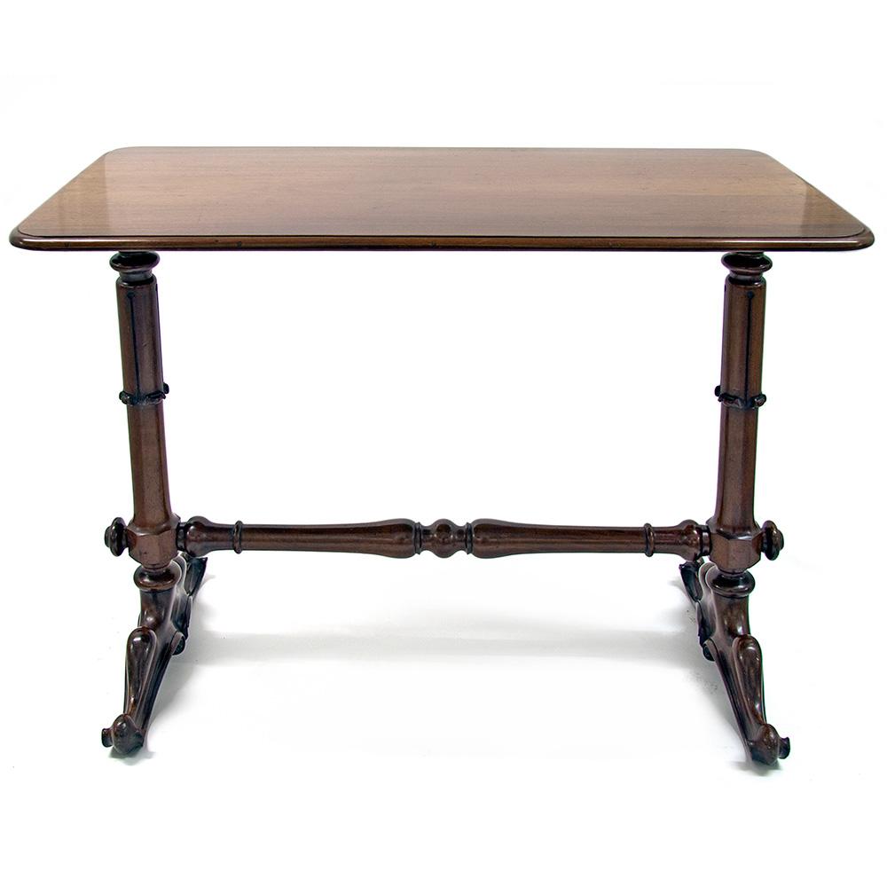 Antique William IV mahogany stretcher table. Circa 1840.